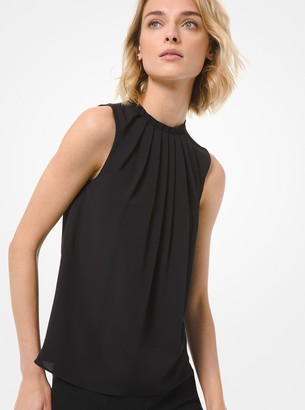 Michael Kors Collection Pleated Silk-Blend Blouse