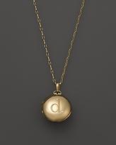 Monica Rich Kosann 18K Yellow Gold Petite Diamond Initial Locket Necklace, 30