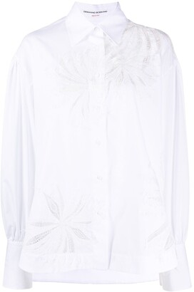 Ermanno Scervino Peek-A-Boo Lace Panelled Shirt