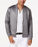 INC International Concepts Men's Basket-Weave Bomber Jacket, Created for Macy's