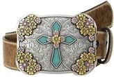 Ariat Vintage Stap with Cross Buckle Belt (Brown) Women's Belts