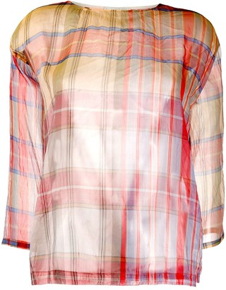 Forte Forte Checked Sheer Top