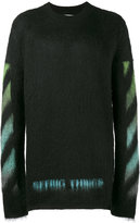 Off-White Brushed Arrows sweater - men - Polyamide/Mohair/Wool - S