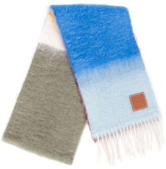 Loewe Gradient-Stripe Mohair Scarf