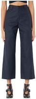 MM6 MAISON MARGIELA Wide Leg Double Knee Trousers (Blue Navy) Women's Casual Pants