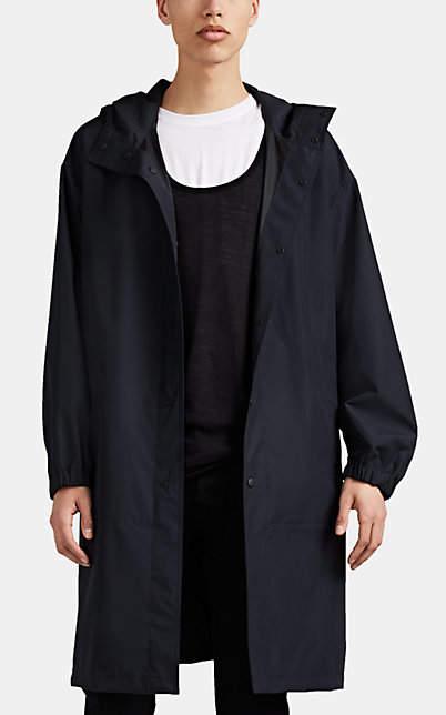 Helmut Lang Men's Logo Tech-Taffeta Raincoat - Black