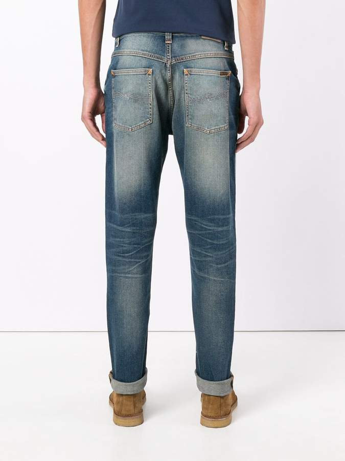 Nudie Jeans light-wash slim-fit jeans