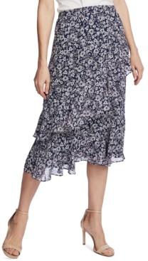 1 STATE 1.state Tiered Midi Skirt