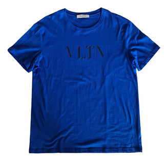 Valentino Blue Cotton T-shirts