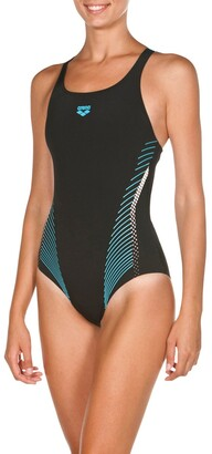 Arena Fluids Printed Pool Swimsuit with Detachable Straps