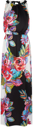 Adrianna Papell Bold Floral Printed Maxi Dress