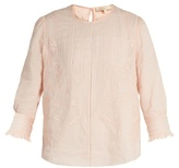 Vanessa Bruno Gwenael linen and cotton-blend blouse