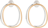 Delfina Delettrez White-gold and pink-gold Ear-Eclipse earrings