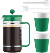 Bodum French Press, Mug & Spoon Set - Green - 34 oz - 5 pc