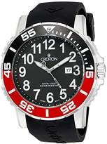 Croton Men's CA301280BSRD Analog Display Quartz Black Watch