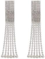 Alessandra Rich silver rectangular crystal drop earrings
