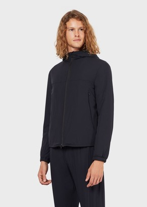 Emporio Armani Travel Essential Jacket In Matte Stretch Nylon
