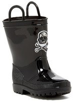 Capelli of New York Pirate Skull Tall Rainboot (Toddler)