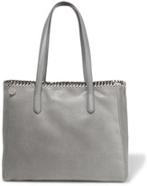 Stella McCartney The Falabella Faux Brushed-leather Tote - Light gray