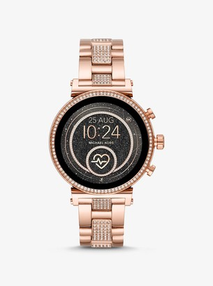 Michael Kors Gen 4 Sofie Pave Rose Gold-Tone Smartwatch