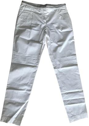 Fabiana Filippi White Cotton Trousers for Women