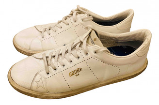 Golden Goose Tennis White Leather Trainers