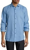 Saks Fifth Avenue Linen Solid Spread Collar Dress Shirt