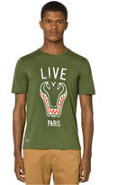 Lacoste L!VE Shirt, Silm Fit Croc Graphic T-Shirt