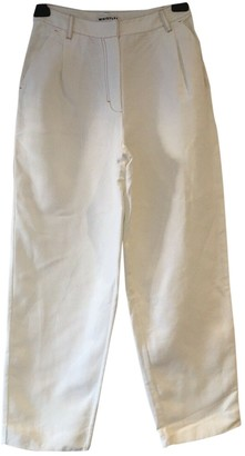 Whistles White Linen Trousers for Women