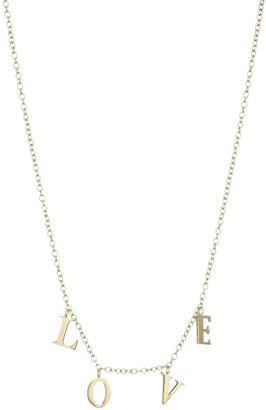 Jennifer Zeuner Jewelry Love Charm Necklace