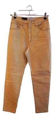Anna Molinari Gold Cotton Trousers for Women