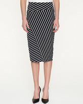 Le Château Stripe Cotton Blend Midi Skirt