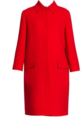 Valentino Double Crepe Virgin Wool Coat
