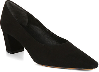 Vince Ania High-Cut Suede Pumps