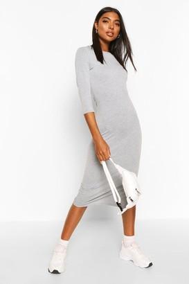 boohoo Tall Split Hem Jersey T-Shirt Dress