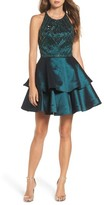 Sean Collection Women's Beaded Tiered Fit & Flare Dress