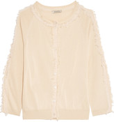 Nina Ricci Fringed silk and wool-blend cardigan