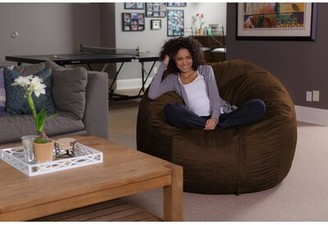 Large Bean Bag Chair & Lounger Latitude Run Upholstery Color: Brown