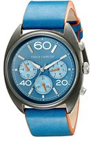 Vince Camuto Men's VC/1053NVSV The Transporter Multi-Function Dial Navy Blue Leather Strap Watch