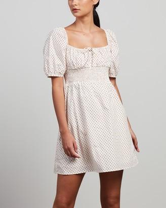 Faithfull The Brand Women's White Mini Dresses - Mariette Mini Dress - Size 6 at The Iconic