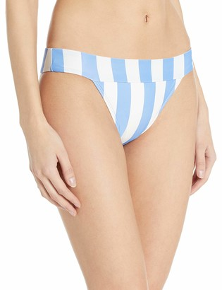 Mae Amazon Brand Women's Swimwear Banded Cheeky Bikini Bottom