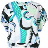 Emilio Pucci printed elasticated waist blouse