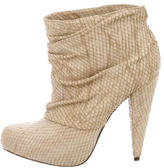 Elizabeth and James Embossed Ankle Boots