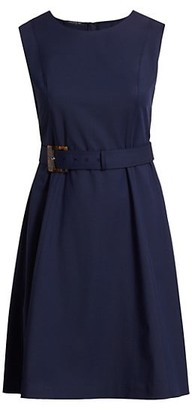 Lafayette 148 New York, Plus Size Leslie Belted A-Line Dress
