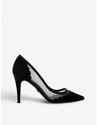 Dune Bellevue scalloped suede courts