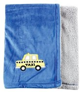 Hudson Baby Applique Two-Sided Blanket, Blue (Discontinued by Manufacturer) by