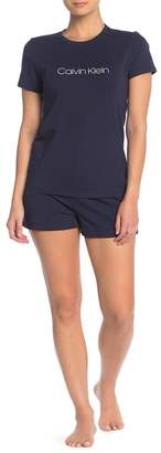 Calvin Klein Short Sleeve T-Shirt & Shorts 2-Piece Pajama Set