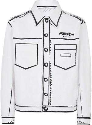 Fendi Trompe L'oeil Shirt Jacket