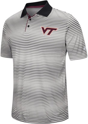Colosseum Men's Gray Virginia Tech Hokies Lesson Number One Polo