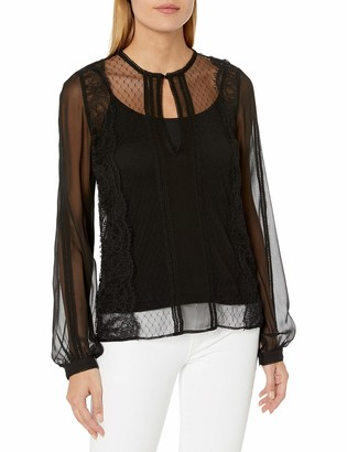 Haute Hippie Women's Lace Widow Blouse